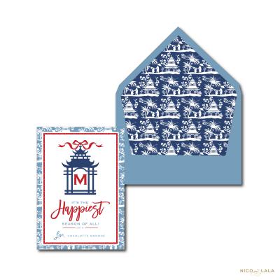 Pagoda Christmas Card