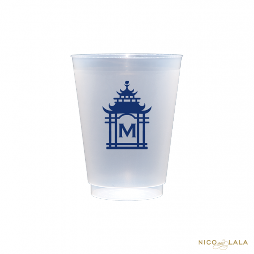 Monogrammed Pagoda Cups