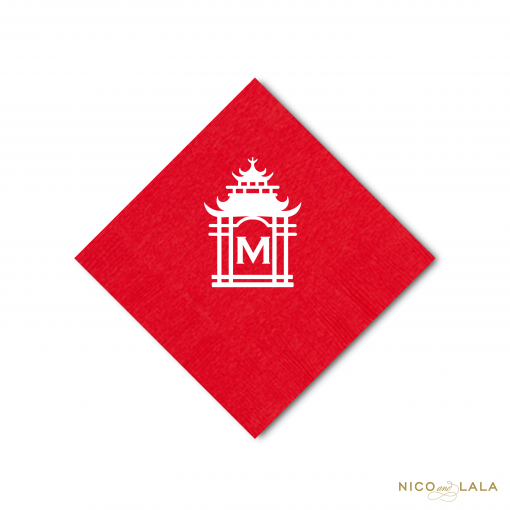 Monogrammed Pagoda Napkins