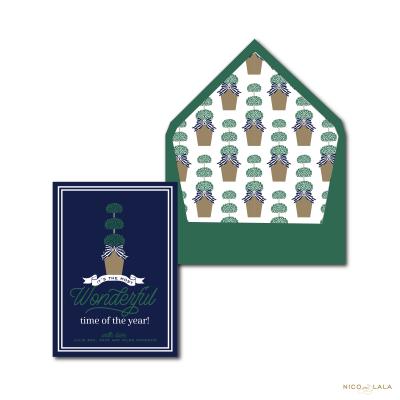Topiary Christmas Card