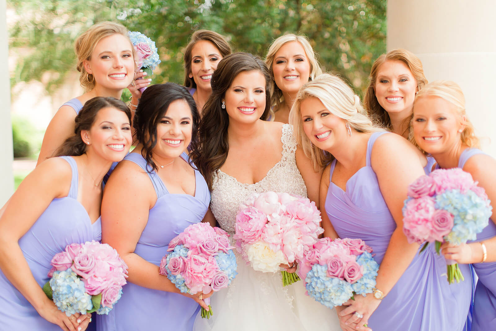 Dessy lavender bridesmaid dresses
