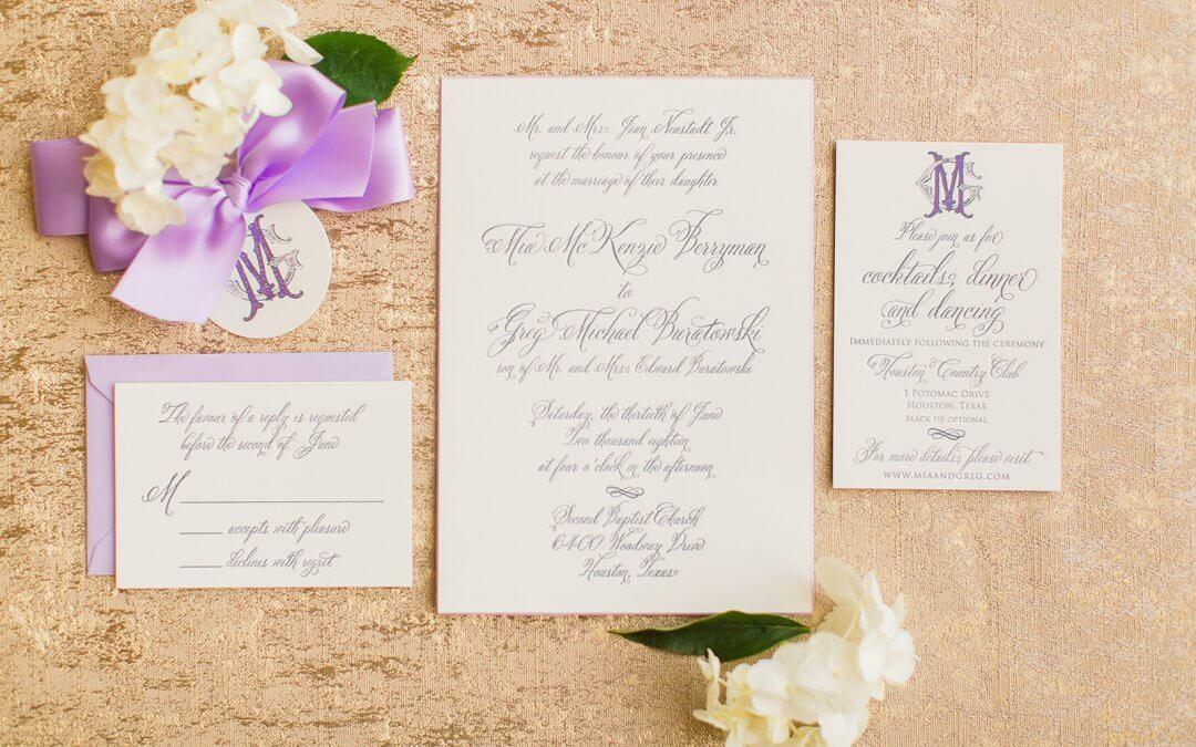 Lovely Lavender Southern Wedding
