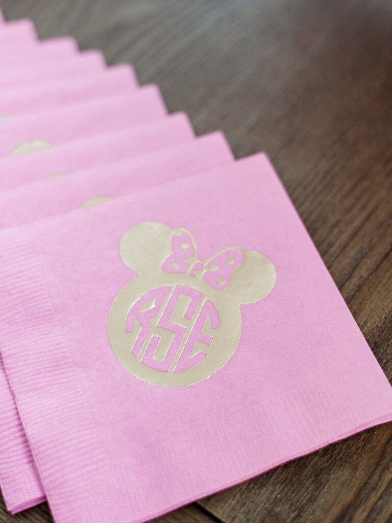 Twodles Monogrammed Birthday Napkins