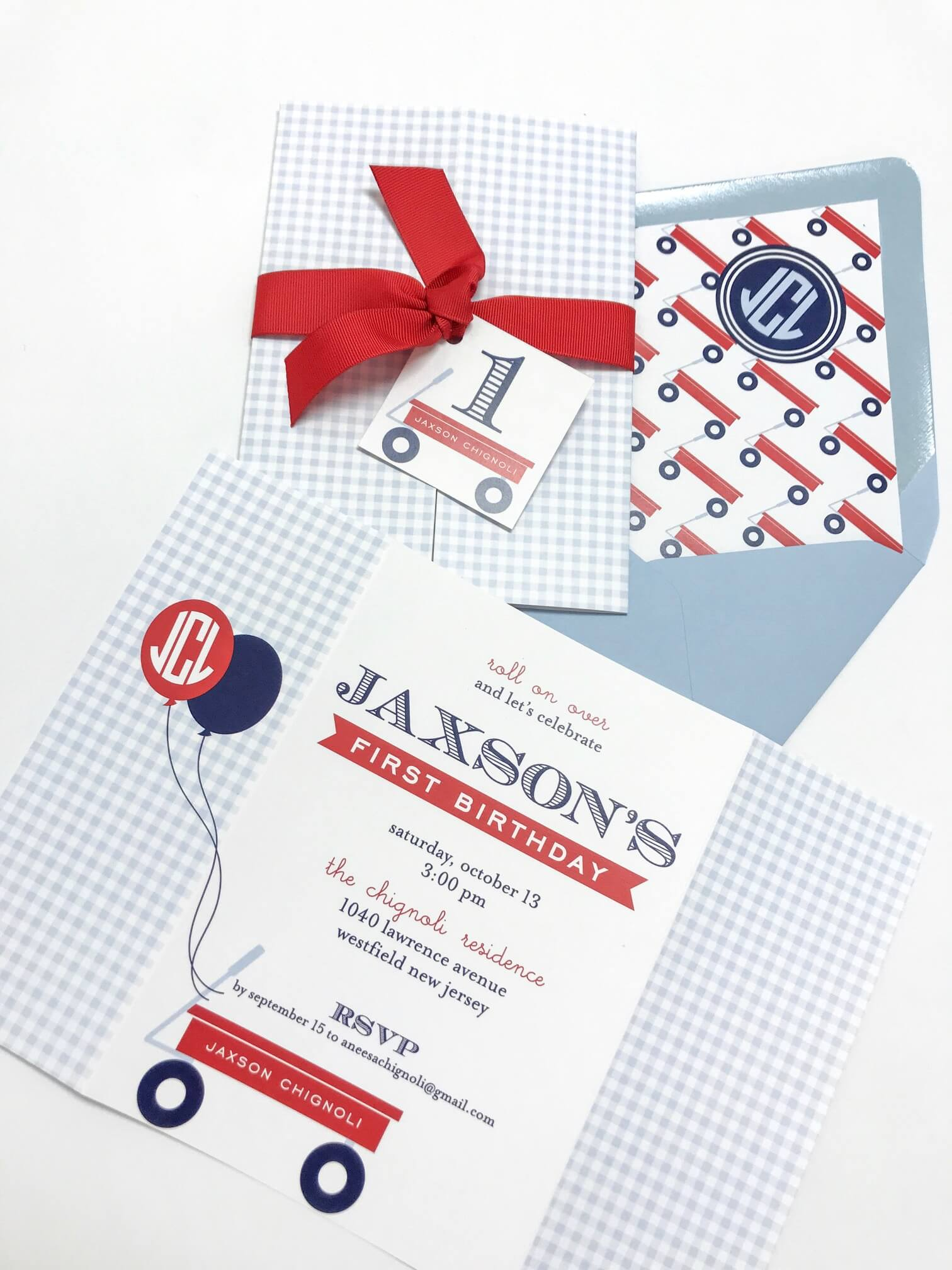 red wagon birthday invitations