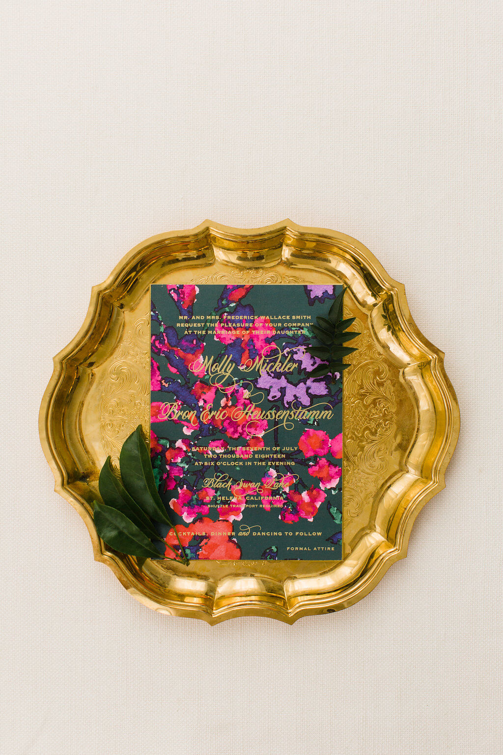 floral pattern wedding invitations