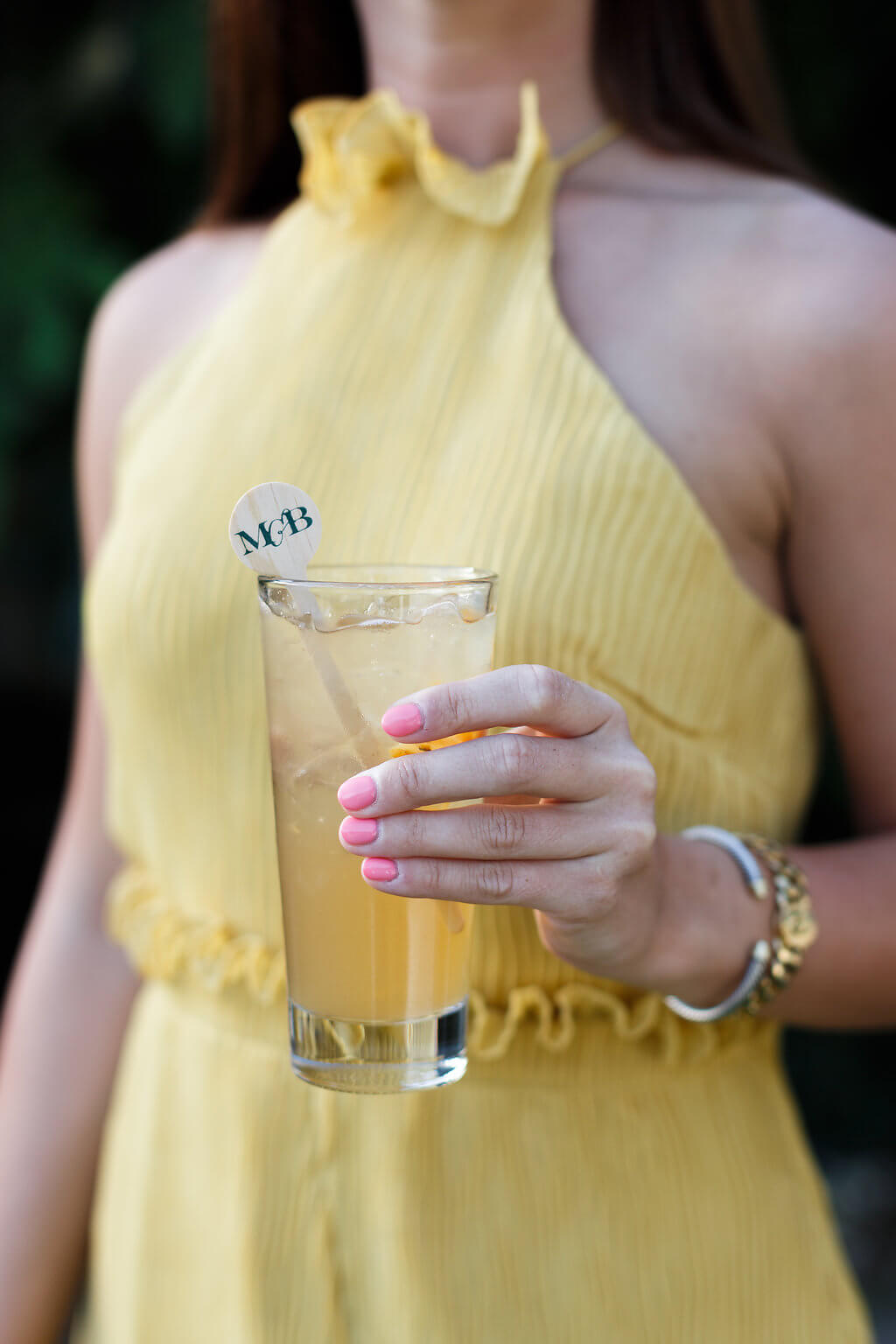 monogrammed wooden drink stir sticks