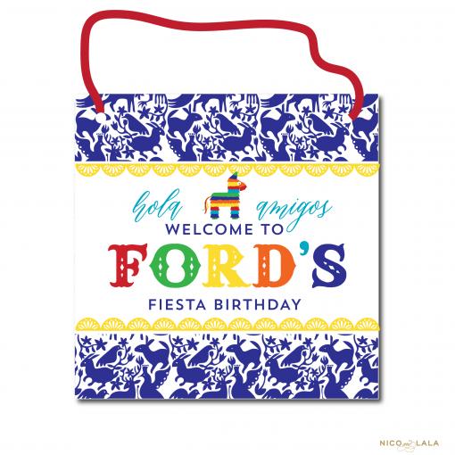 Fiesta Birthday Door Sign
