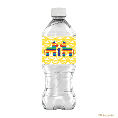 Fiesta Birthday Water Bottle Labels