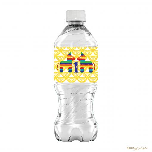 Fiesta Birthday Water Bottle Labels