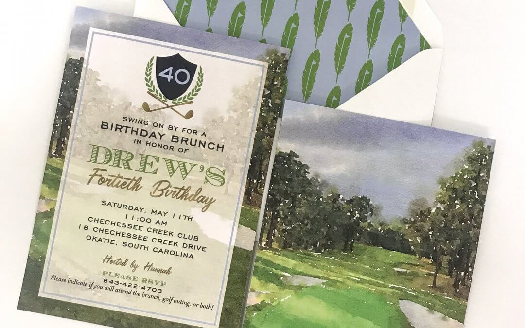 Drew's Golf Themed 40th Birthday