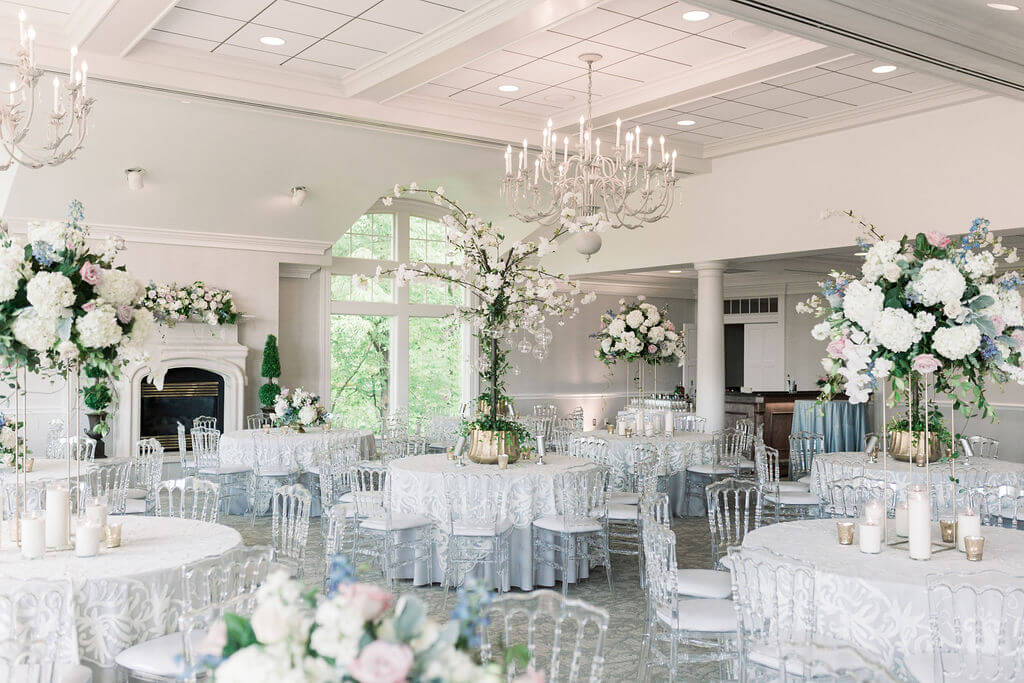 Blue and White Wedding Oneida Country Club
