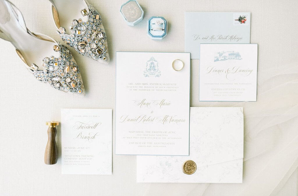 Dusty Blue and Gold Traditional Wedding