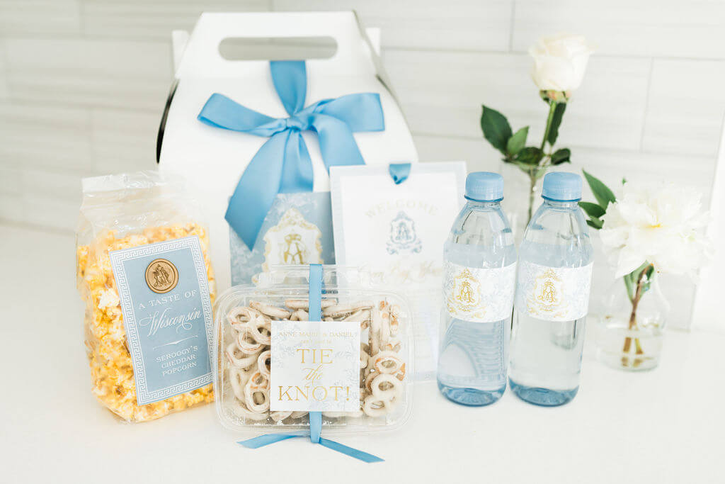 Ginger jar inspired wedding welcome box