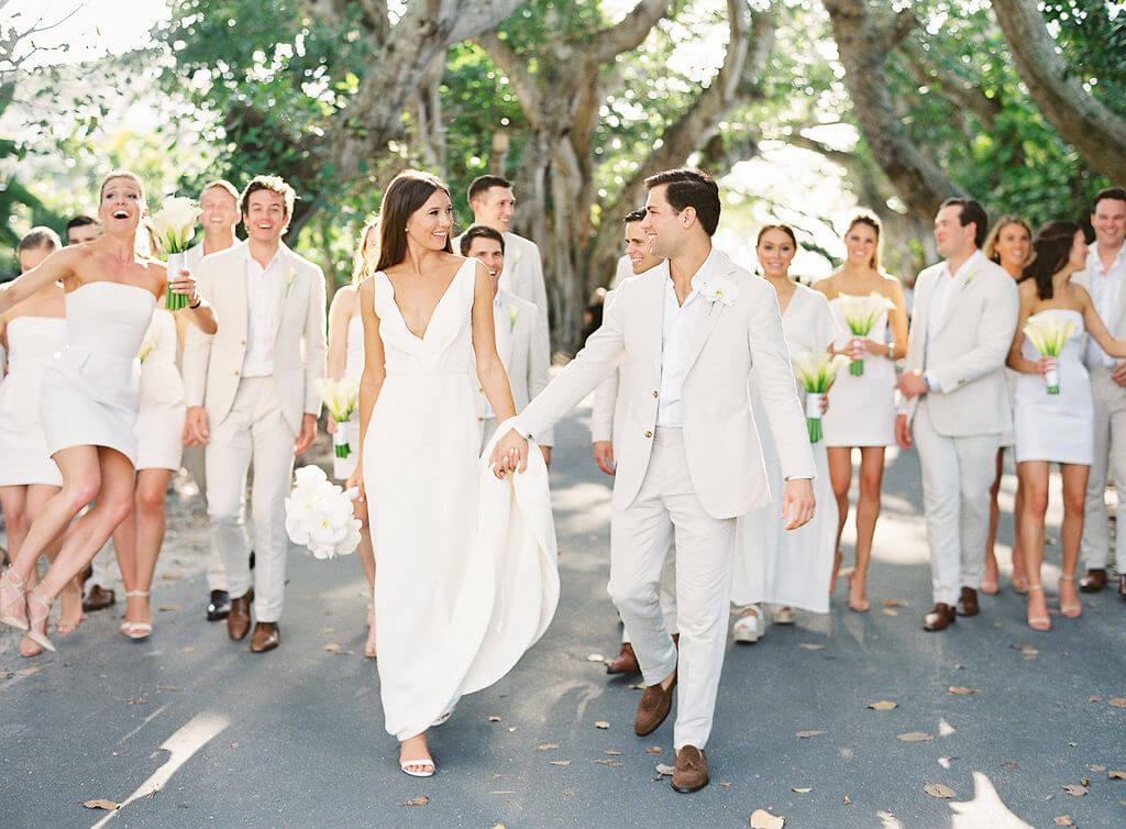 White Wedding Party for Boca Grande Wedding