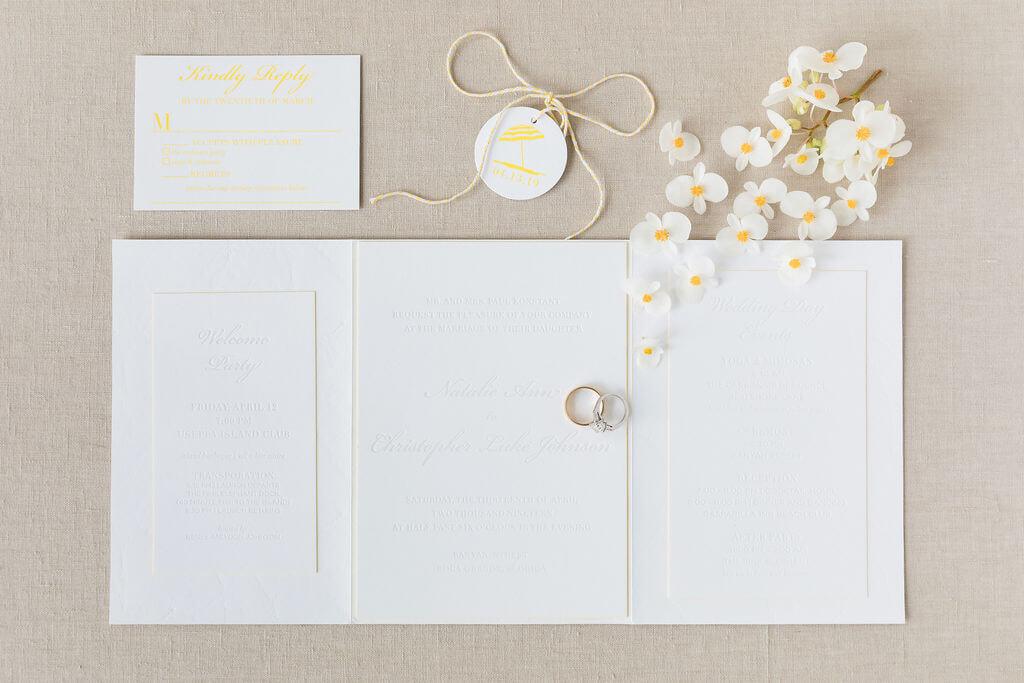 Dreamy White Wedding Invitation