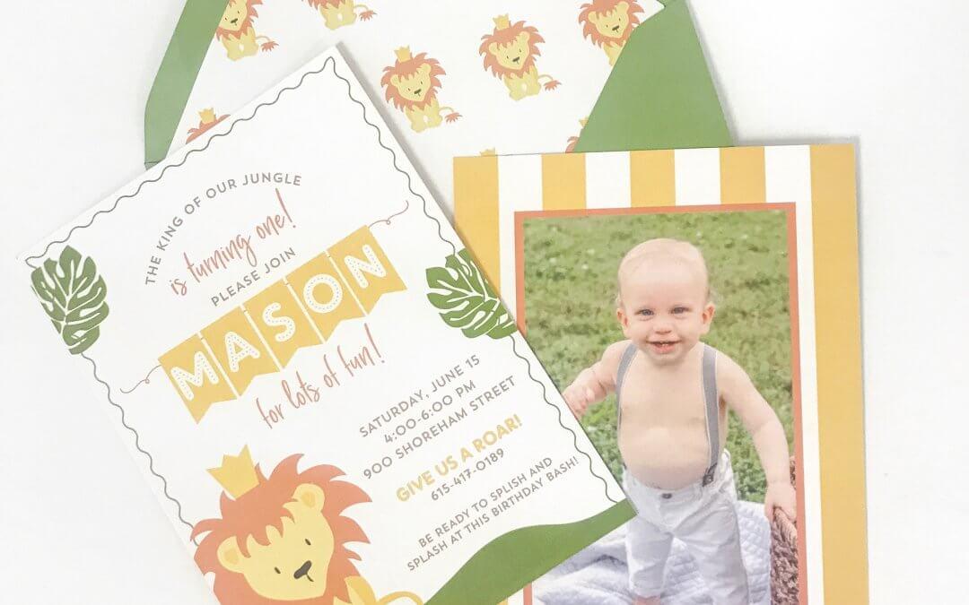Mason's King of the Jungle Birthday