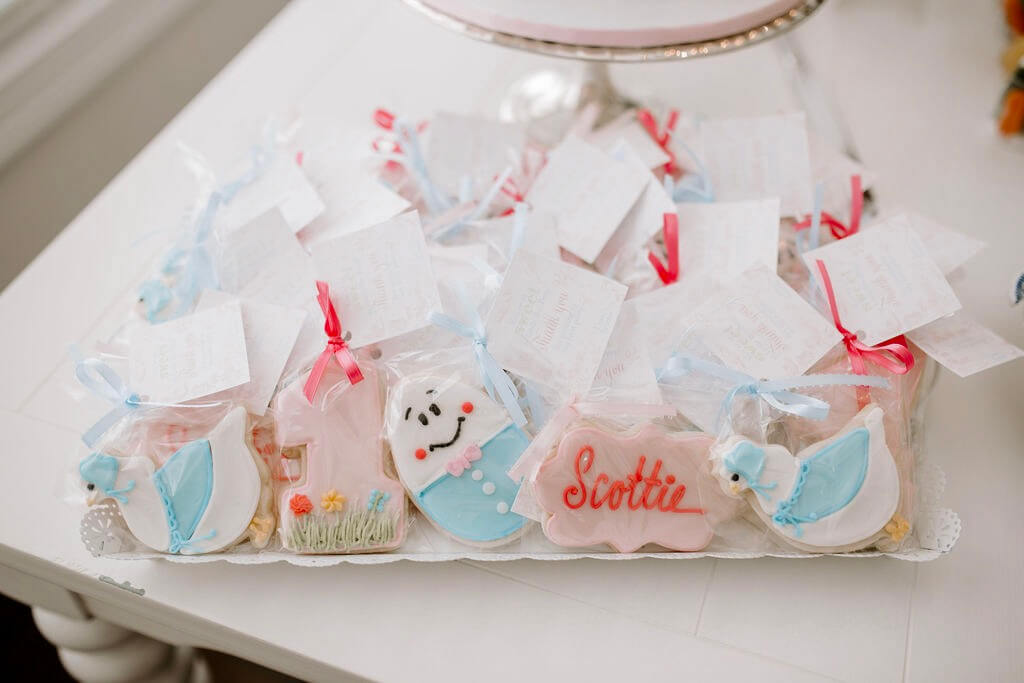 Mother Goose birthday cookies